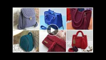 Stylish very useful crochet handbags