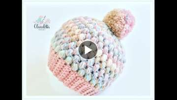How to CROCHET easy Puff Stitch Hat