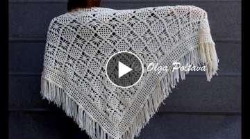 How to Crochet Lacy Shawl