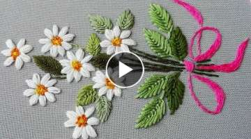 Hand Embroidery Daisy flower