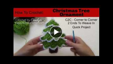 How To Crochet Christmas Tree Ornament