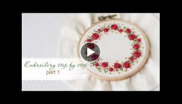 Embroidery step by step lesson rose stitch.