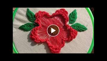Brazilian flower embroidery for beginners