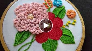 Hand Embroidery - Brazilian Embroidery For Beginners - Detached Buttonhole Stitch