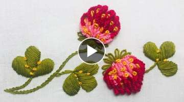 Hand Embroidery: Clover Flower Embroidery/Brazilian Embroidery
