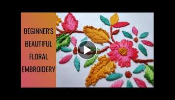EASY Floral Embroidery for beginners