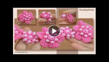 Crochet Floral 3D Adornment