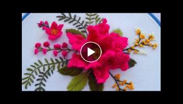 Brazilian Flower * Dimensional embroidery * Needle weaving