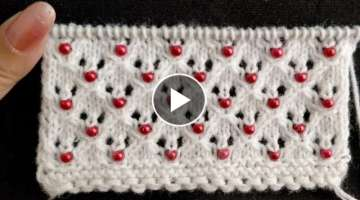 Beaded Openwork Knitting Pattern. for Baby Set