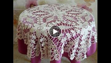 Crochet motif patterns for tablecloth