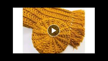 EASY CROCHET HAT AND CROCHET SCARF