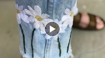 DIY EMBROIDERED JEANS: DAISY CHAIN