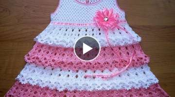 Crochet Patterns| for |Crochet Baby Dress| 825