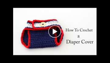 How To Crochet a New England Patriots Diaper Cover
