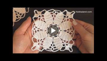 Crochet Easy Flower Square Motif