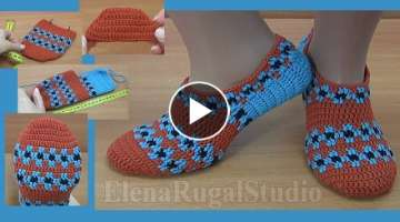 Colorful Crochet Slippers for Men or Women