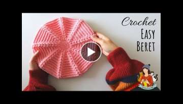 How To Crochet An Easy Beret Hat