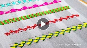 5 Awesome Hand Embroidery Border line Designs