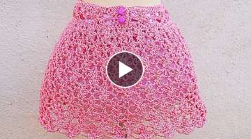 Crochet flower skirt for girls