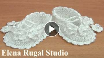 Crochet Baby Booties Tutorial 36 Part 1 of 2