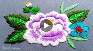Bright Flower Embroidery Design